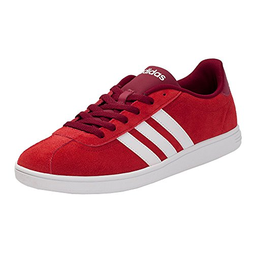 adidas Vlcourt, Baskets Basses Homme Rouge