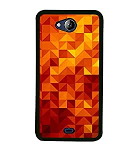 Beautiful Triangular Pattern 2D Hard Polycarbonate Designer Back Case Cover for Micromax Canvas Play Q355