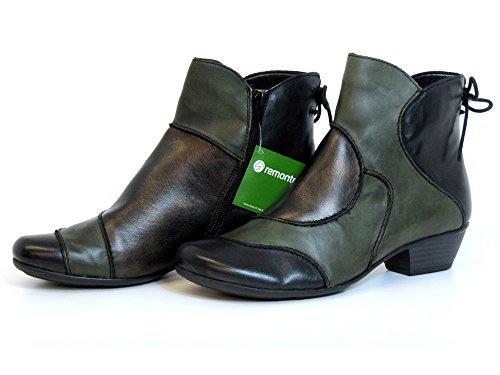 Remonte Donna stivaletti verde, (schwarz/leaf/antik) D7380-52 schwarz/leaf/antik