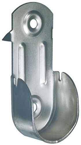 Nickel Kleiderstange (2 X Rohr Wandhalter Ø 18 Ovalrohr Halter Kleiderstange Stangenhalter Garderobe (Verzinkt))