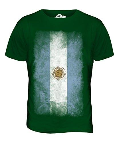 CandyMix Argentinien Verblichen Flagge Herren T Shirt Flaschengrün