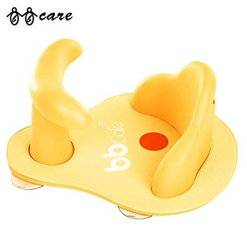 Helle Sitz (BBCare Baby Sicherheitsbadesitz mit weicher Minimatte und farbändernder Hot Spot (Gelb))