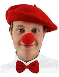 Ensemble de déguisement Nez rouge + chapeau + nœud papillon