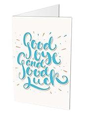 Idea Regalo - 'Goodbye and good luck, biglietto pieghevole DIN A4Maxi con busta, Celibato scheda per colleghi o personale, al celibato, verabschiedung, Ruhestand, ausstand, tipografia