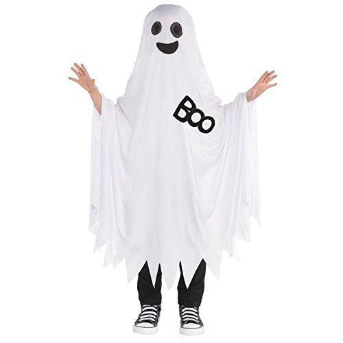 Ghost Cape Childrens Fancy Dress Halloween Spooky Ghoul Jungen Mädchen Kinder ()