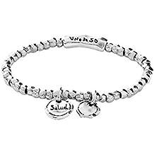 666cc8f9895b Amazon.es  pulseras plata mujer - UNO DE 50