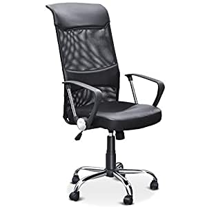 SWT Office Swivel Desk Chair Executive High Back PC Computer Office Chairs Bl