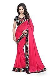 Lovisa Fashion Pink Georgette Saree with Blouse(AS90_saree_pink)