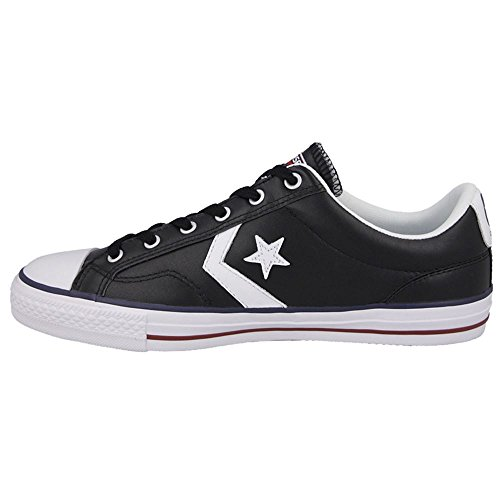 Converse Sp Core Lea Ox, Baskets mode mixte adulte Noir Blanc