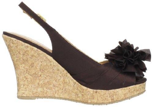 CL By Laundry Ilena Damen Offener Spitze Stoff Keilabsätze Sandale Mink