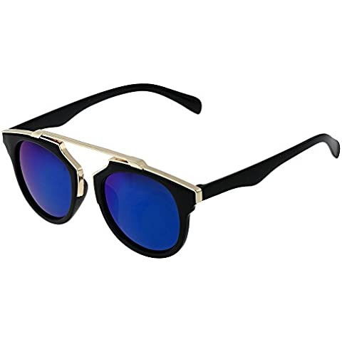 OUTEYE Gafas del Sol Sport UV400 Retro Gato Vintage Viaje Caballero Mujer Unisex