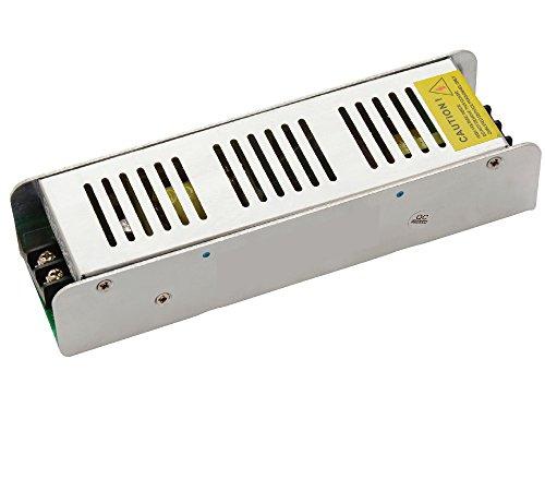 12v Ac Transformator 150w (12v 150w Slim Flach LED Trafo Netzteil Transformator Treiber AC Adapter geeignet für Lampen, RGB Strips RGB oder einfarbig 12V 12A 150W)