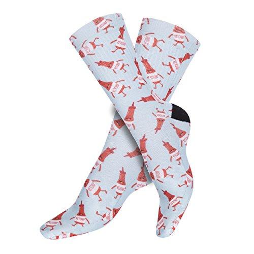 Funny Socks Company © Impreso Socks 3D Imprimir Motive Design One Size talla única 36-40 EU Unisex Primavera Verano 2017 (44907 BEST FRIENDS KETCHUP)
