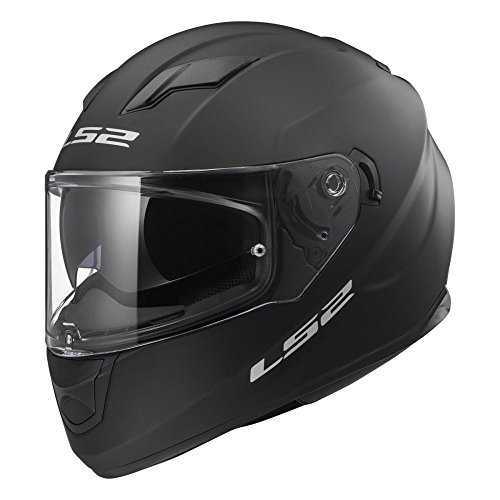 LS2 103201011XS FF320 Casco Stream Solid, Color Negro Mate, Tamaño XS