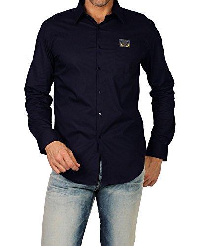 fendi-chemise-pour-homme-hita-popeline-fs0655-96t-bleu-marine-40-cm-col