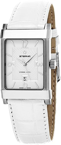 Eterna 1935 Eterna-Matic Women's White Leather Strap Swiss Automatic Watch 8491.41.10.1165
