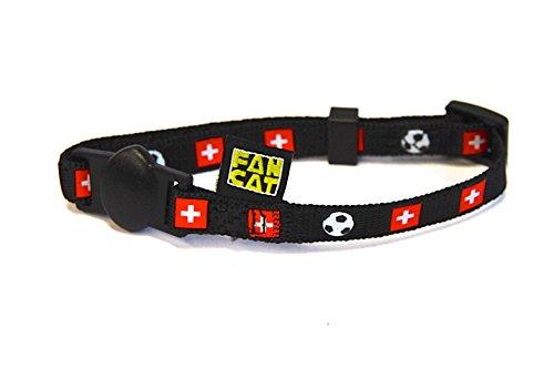 www.FanCat.eu und www.FanDog.eu Katzenhalsband und Hundehalsband FanCat/FanDog - Schweiz für Fussball Fans - Grösse S