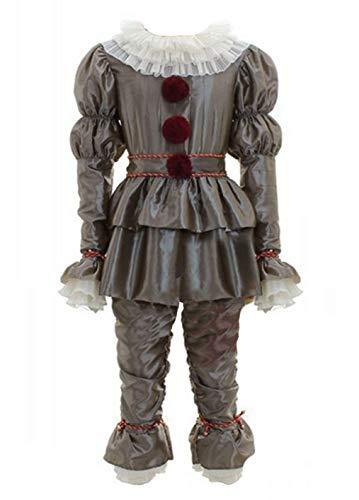 qingning Horror Clown Kostüm Joker Pennywise Cosplay Bekleidung Film Halloween Narr Anzug