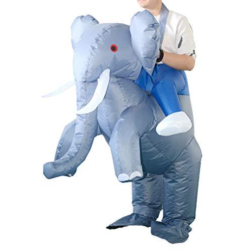 KAIMENG Aufblasbarer Anzug für Weihnachten, Reiten, Elefant, Kostüm, Abschlussball, Requisiten, lustiges Cosplay-Kostüm für Kinder und Erwachsene (nicht im Lieferumfang enthalten)