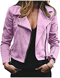 low priced 1fe47 01c83 Amazon.it: giacca ecopelle - Rosa / Donna: Abbigliamento