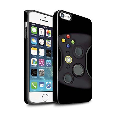 STUFF4 Glanz Harten Stoßfest Hülle / Case für Apple iPhone 8 Plus / Nintendo Game Boy Muster / Spielkonsolen Kollektion Schwarz Xbox 360