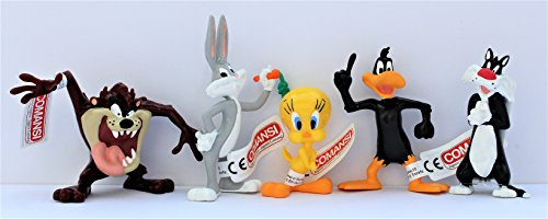 Comansi Spielset Looney Tunes - 5 Figuren Bugs Bunny Tweety Taz Sylvester Duffy
