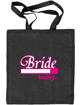 Shirtstreet24, BRIDE LOADING..., JGA Junggesellenabschied Stoffbeutel Jute Tasche