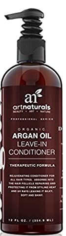 ArtNaturals Argan Oil Leave-In Conditioner - 354 ml Made with Organic and Natural Ingredients - for All Hair Types – Treatment for Damaged, Dry, Color Treated and Hair Loss