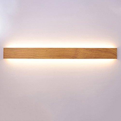 Unbekannt $Wall Lamp Light Wandleuchte Schlafzimmer Nachttisch LED Wandleuchte Wohnzimmer Flur Treppe Holzfarbe Wandleuchte Einfache Moderne rechteckige Wandleuchte Wanddekoration Lichter (Farbe : C)