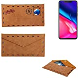 K-S-Trade Protective cover case for Cubot P201, brown.