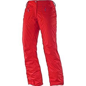 Salomon - SALOMON - Pantalon Ski Femme - EXPRESS PANT W Rouge - tailles: M