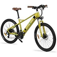 Cityboard E- Tui Bicicleta Eléctrica, Unisex Adulto, Negro/Azul, 27.5 Pulgadas