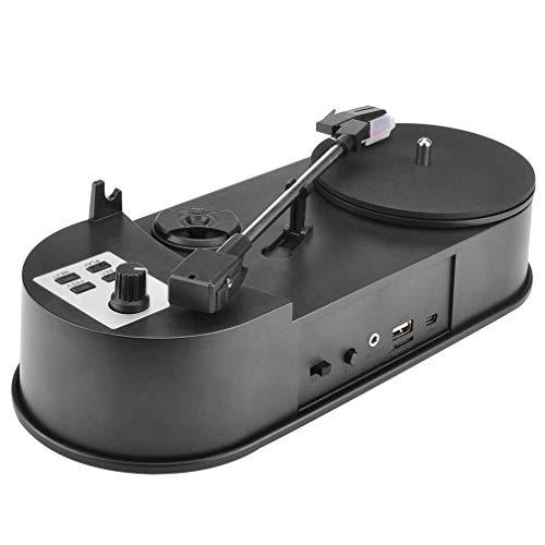 DERNON USB Mini Schallplattenspieler Audio Player Schallplattenspieler zu MP3 / WaV/CD Konverter schwarz