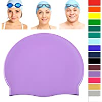 9277a5663d45 Joggaboms Swim Cap - Silicone – Keeps Hair Dry - Easy Fit – Popular for Kids