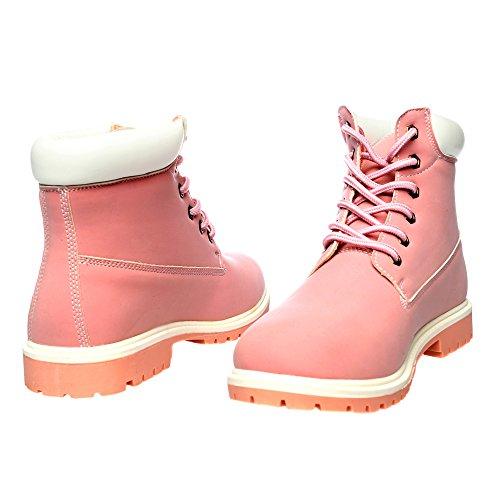 RIFLE Chaussures Femme, Chaussures d'hiver avec lacets. mod. 162-W-375-385 Rose