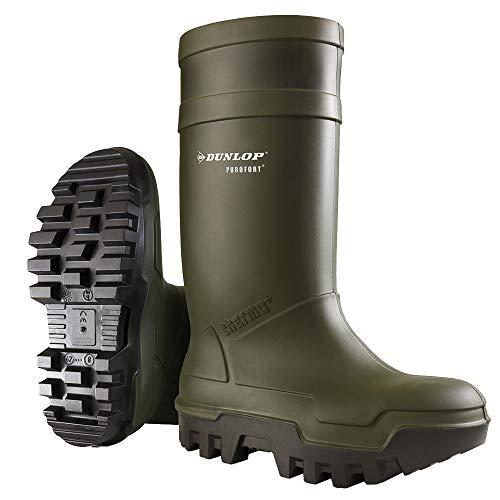 DunlopC662933 S5 THERMO+, Botas de caña alta de goma Unisex, Verde (Groen 08), 46 EU