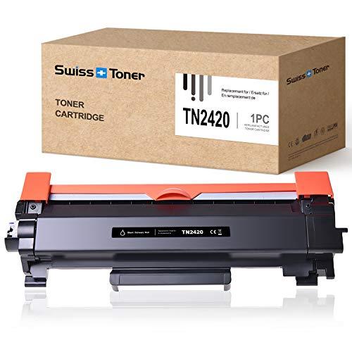 SWISS TONER TN2420 Cartuccia Toner Compatibile con Brother TN2420 TN-2420 per HL-L2310D HL-L2370DN HL-L2375DW MFC-L2710DN MFC-L2710DW MFC-L2730DW MFC-L2750DW DCP-L2510D DCP-L2530DW, 1x Nero