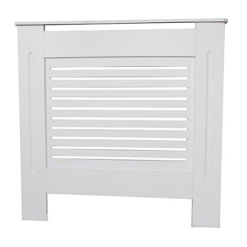 Mueble para radiador pintado, diseño moderno, color blanco, tablero DM, varios tamaños, S, M, L, XL Small blanco