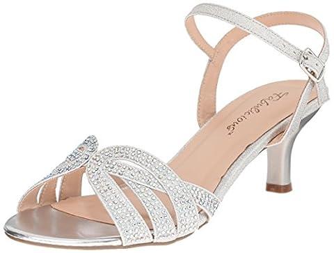 Pleaser Audrey 03, Sandales femme - Argent - Silver (Slv Shimmering Fabric) - 36 EU (3 UK, 6 US)
