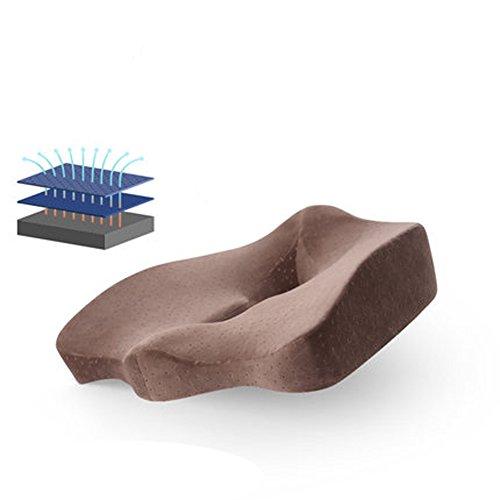 DADAO Premium-Komfort-sitzkissen Steißbein-orthopädischen Memory-Schaum Lumbar Support Pillow-Bambus Kohle magnetische Tuch-I 40x40cm(16x16inch)