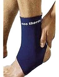 Neo Therm tobillo apoyo lesión deportiva alivio del dolor protección correa de elástica, color azul, tamaño XL