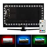 Luminoodle Professional Bias Lighting for HDTV | 15 Colors + 6500K True White LED TV Backlight | fits 55