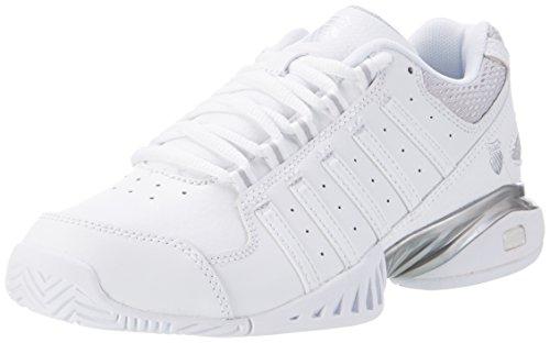 K-Swiss Performance Receiver III, Scarpe da Tennis Donna, Bianco (White/Silver), 37 EU