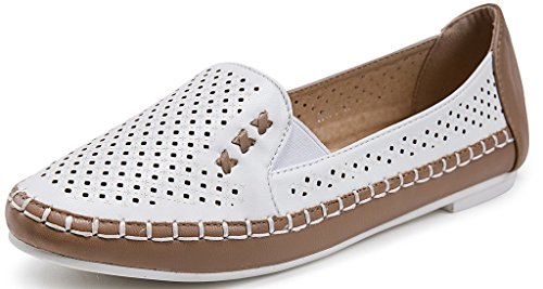 Ageemi shoes scarpe basse slip on donna punta tonda mocassini da donna scarpe,eud11 beige 39
