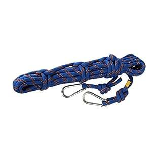 10m 10mm Extérieur Escalade Corde de Sauvetage Rappelling Corde de Sécurité Bleu