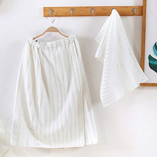 Strand Handtuch Vier Jahreszeiten Wind Baumwolle gestreifte Ebene kann Tragen Schönheit Salon Set Geschenk Box Strand Tube Top Bad Handtuch Rock,C -