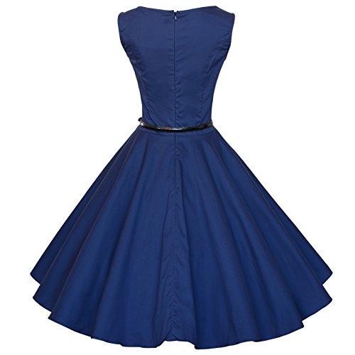 Maggie Tang Vintage anni 60s Audrey Hepburn Swing porta abiti, stile Rockabilly NAVYBLUE