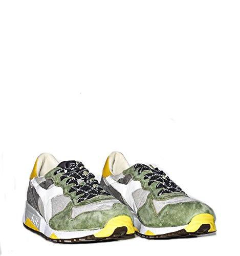 sneakers uomo diadora heritage trident 90c sw camoscio grigio verde Verde