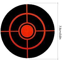 Pegatinas De Objetivos De Tiro -100 O 250 Piezas / Rollo De 3 Pulgadas De Diámetro, Rollo De Pegatinas Adhesivas Para Disparar, Impactos De Alta Visibilidad Y Objetivos De Pistola Autoadhesivos