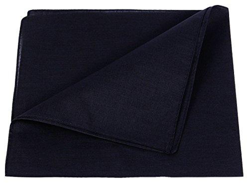 Bandana Zandana einfarbig Kopftuch Halstuch uni Farben 100% Baumwolle, Farbe wählen:schwarz Kopftuch, Große